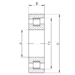 130 mm x 230 mm x 40 mm  Loyal NF226 E cylindrical roller bearings