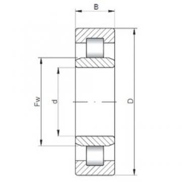 130 mm x 230 mm x 40 mm  ISO NU226 cylindrical roller bearings
